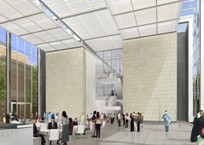 Artists Rendering of new Shapiro Courtyard at the MFA